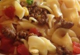 Slow Cooker Ground Meat Noodle Casserole