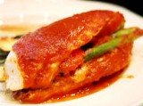 Stuffed Chicken With Red Pepper Sauce | Ideal Protein Diet Naperville Plainfield Bolingbrook