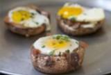 Baked Eggs in a Portobello Cap