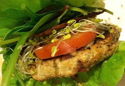 Brined Ground Chicken Burger